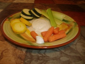 Ranch dressing with veggies